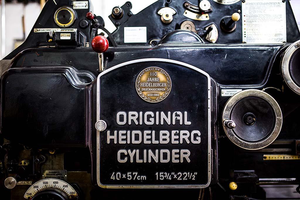 altUnser Heidelberger Cylinder aus den 60iger Jahren