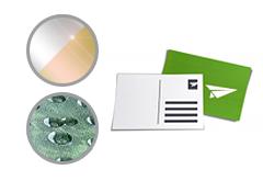 IMG: Postkarte mit partiellem Lack oder Heißfolie Postkarte mit partiellem Lack oder Heißfolie