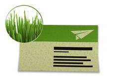 IMG: Visitenkarte Graspapier Visitenkarte Graspapier
