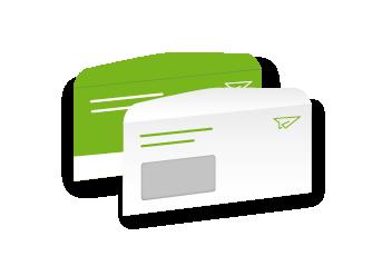 Briefumschläge nassklebend Kuvertierung
