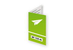 Parallelfalz Flyer mit Code