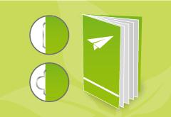 Broschüre mit Umschlag Recycling