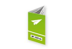Wickelfalz Flyer mit Code