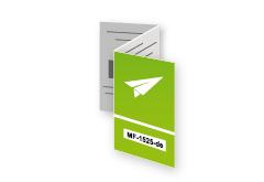 Zickzackfalz Flyer mit Code