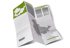Landkartenfalz Flyer
