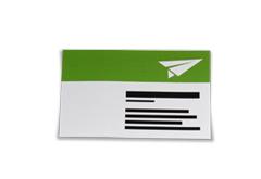 Visitenkarten Recycling