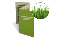 Zickzackfalz Flyer Graspapier