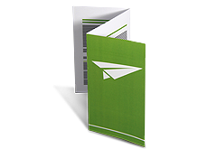 Zickzackfalz Flyer Recycling