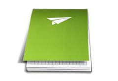 IMG: Block mit Umschlag Block mit Umschlag