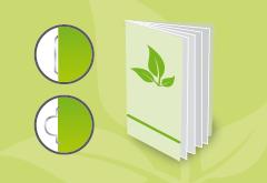 IMG: Broschüre Ecco mit Umschlag Graspapier Broschüre Ecco mit Umschlag Graspapier