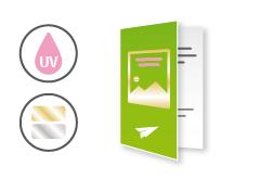 IMG: Weihnachtskarte mit partiellem Lack oder Heißfolie Weihnachtskarte mit partiellem Lack oder Heißfolie