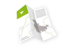 IMG: Landkartenfalz Flyer Landkartenfalz Flyer