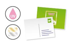IMG: Weihnachtspostkarte mit partiellem Lack oder Heißfolie Weihnachtspostkarte mit partiellem Lack oder Heißfolie
