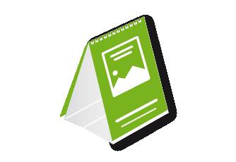 IMG: Tischkalender mit Aufsteller Tischkalender mit Aufsteller