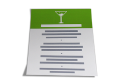 IMG: Speisekarten Einzelblatt Speisekarten Einzelblatt
