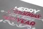 Weihnachtskarte mit partiellem Lack oder Heißfolie