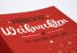Weihnachtspostkarte mit partiellem Lack oder Heißfolie