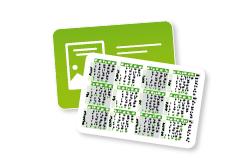 www.myflyer.de Scheckkarten-Kalender