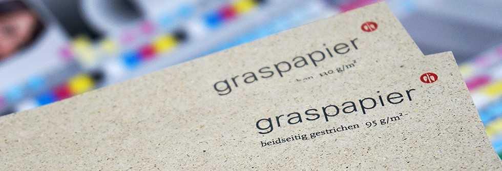 Graspapier Visitenkarten Umweltschonend Gedruckt Von