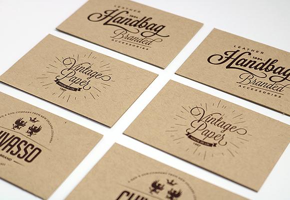 Extrastarke Visitenkarten Aus Kraftpapier Günstig Drucken